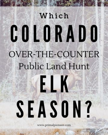 Run through the pros and cons of each Colorado elk hunting season to figure out which season is right for your DIY Colorado elk hunt.