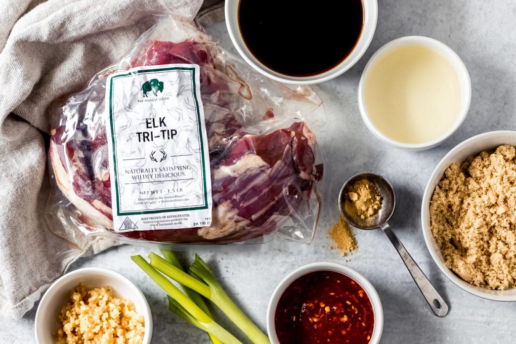 ingredients to make Korean Elk bulgogi