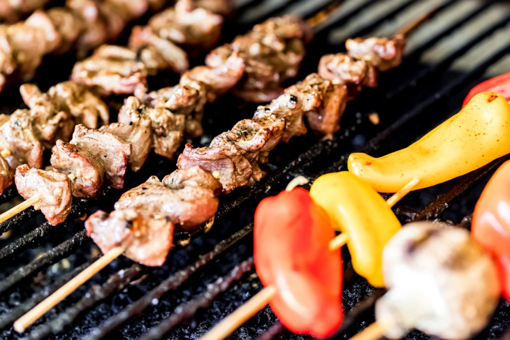 venison kabobs on the grill