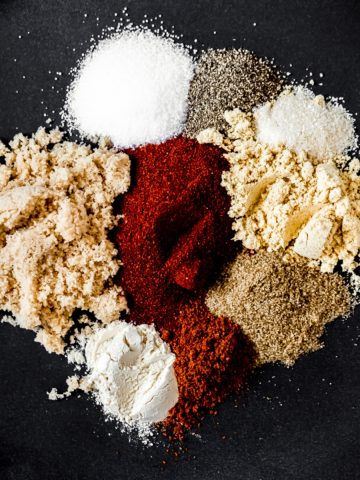 spices on a plate for a homemade seasoning blend