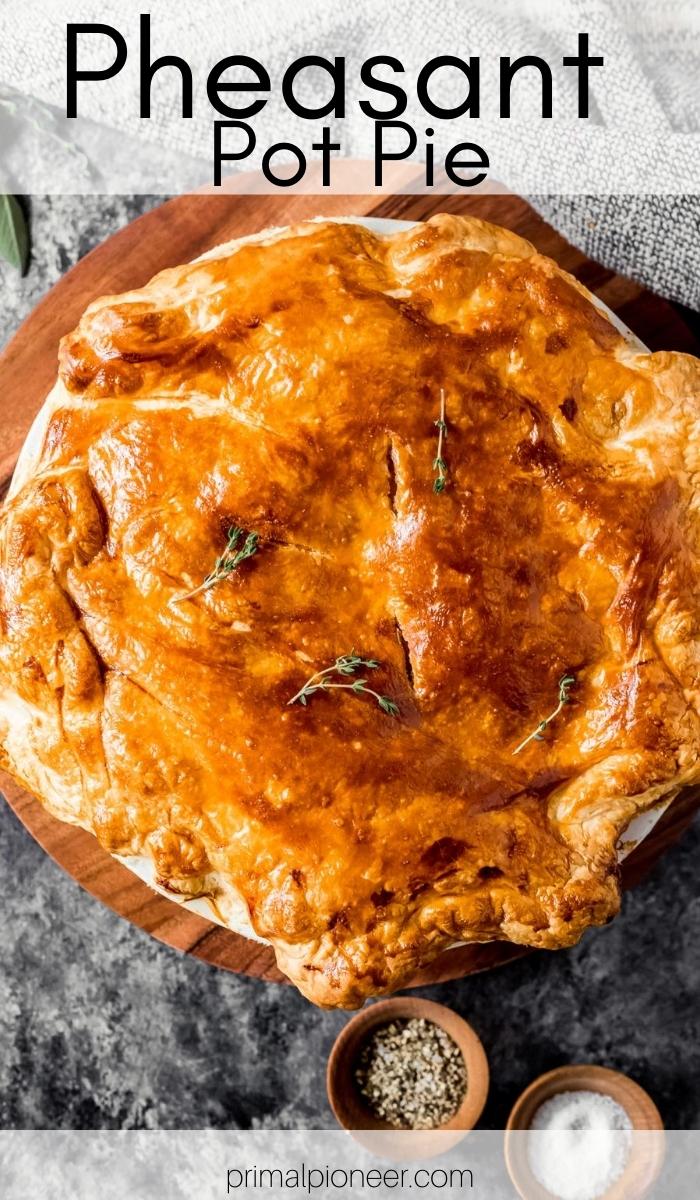 a baked pheasant pot pie