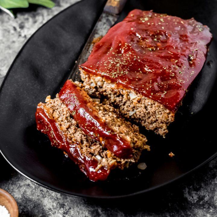 a venison meatloaf on a platter