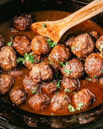 Crockpot Venison Meatballs